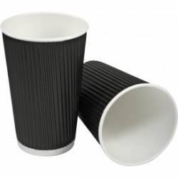 Pahare carton rippled negru